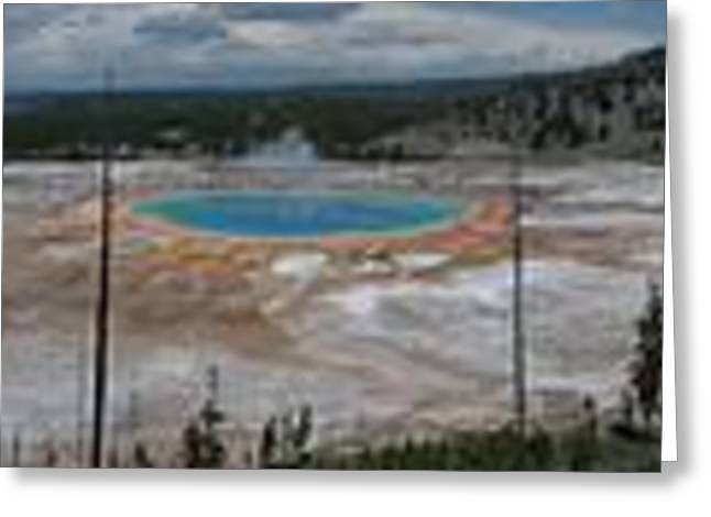Maine Spring Greeting Cards - Yellowstones Grand Prismatic Greeting Card by Michael French