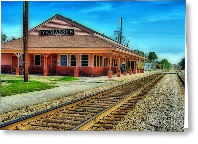 Train Rides Greeting Cards - Yemassee Train Station Greeting Card by Skip Willits