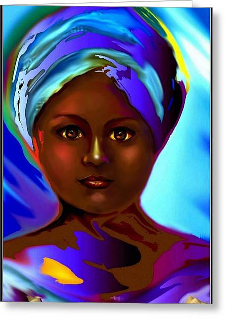 Orishas Greeting Cards - Yemaya -The Mother Goddess Greeting Card by Carmen Cordova