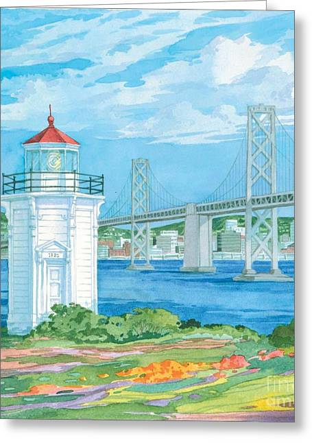 California Lighthouse Greeting Cards - Yerba Buena Lighthouse Greeting Card by Paul Brent
