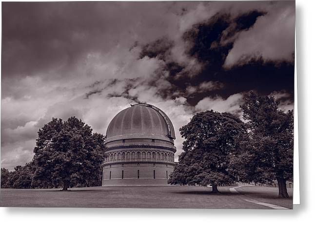 Observatory Greeting Cards - Yerkes Observatory Wisconsin Greeting Card by Steve Gadomski