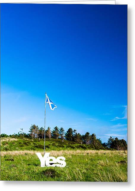 Conservative Greeting Cards - Yes for Scotland becoming independent Greeting Card by Frank Gaertner