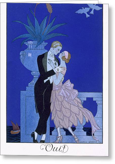 Twenties Greeting Cards - Yes Greeting Card by Georges Barbier