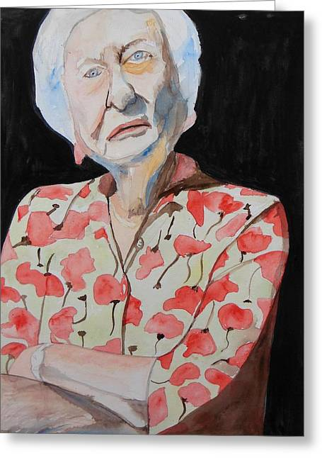 Character Portraits Greeting Cards - Yes Im 91 Greeting Card by Esther Newman-Cohen