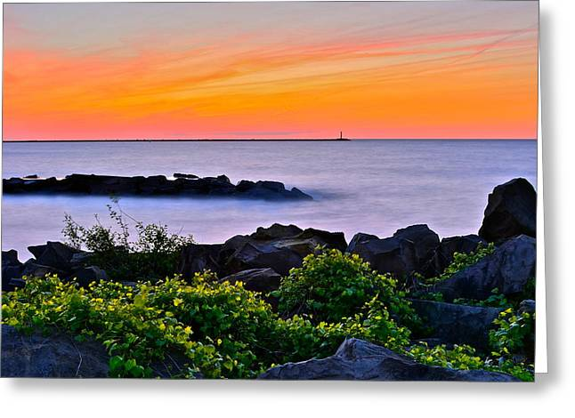 Colossal Greeting Cards - Yes Its Lake Erie Greeting Card by Frozen in Time Fine Art Photography