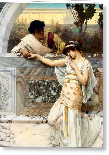 Yes Greeting Cards - Yes or No Greeting Card by John William Godward