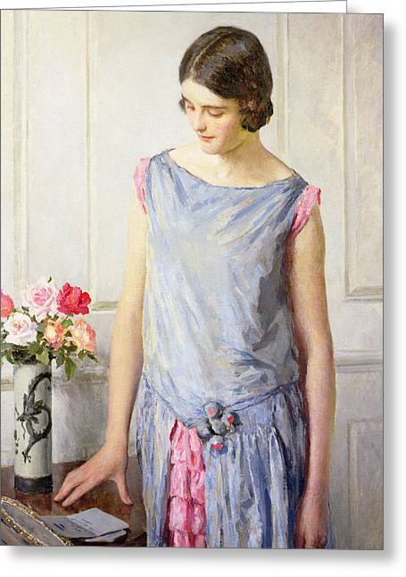 Considering Greeting Cards - Yes or No Greeting Card by William Henry Margetson