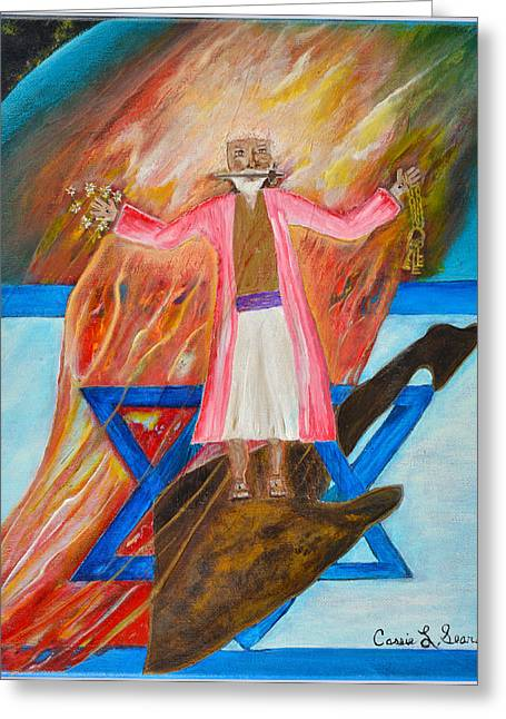Art-by-cassie Sears Greeting Cards - Yeshua Greeting Card by Cassie Sears