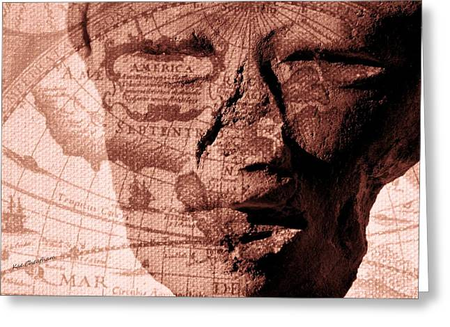Clay Sculpture Greeting Cards - Yesterday America Greeting Card by Kae Cheatham