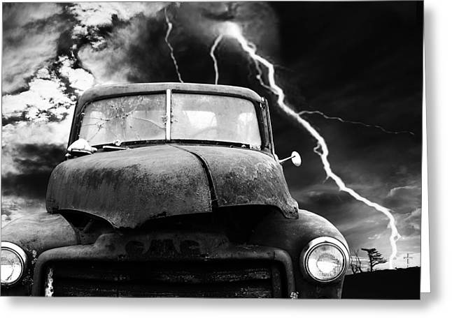 Night Scenes Greeting Cards - Yesterday Came Early . Tomorrow Is Almost Over . bw . Square Greeting Card by Wingsdomain Art and Photography