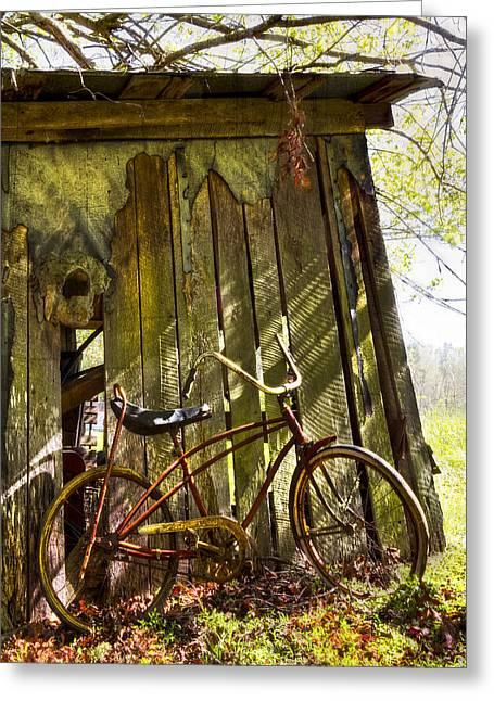 Foggy. Mist Greeting Cards - Yesterday Greeting Card by Debra and Dave Vanderlaan