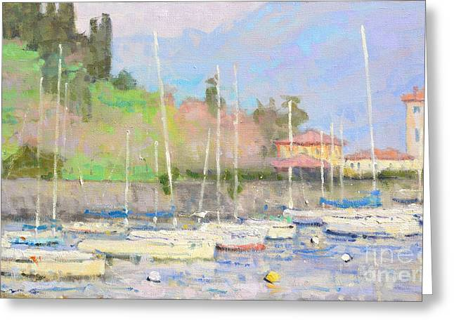 Lake Como Paintings Greeting Cards - Yesterday Greeting Card by Jerry Fresia