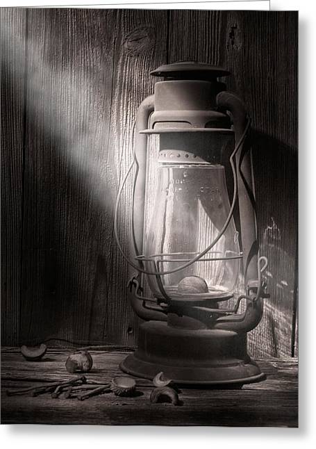 Lamp Greeting Cards - Yesterdays Light Greeting Card by Tom Mc Nemar