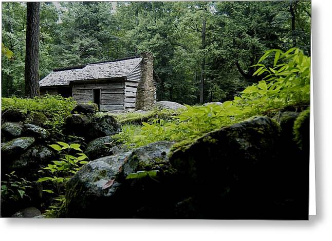 Gatlinburg Tennessee Greeting Cards - Yesterdays Song Greeting Card by John Saunders