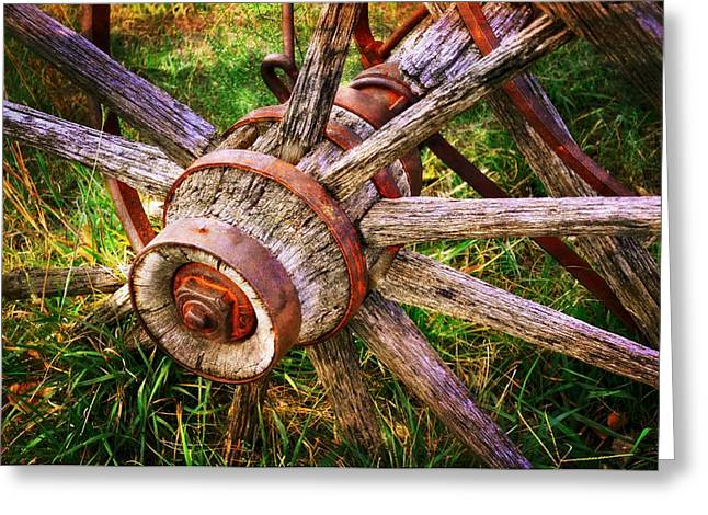 Yesterday's Wheel Greeting Card by Marty Koch