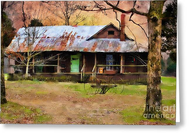 Old House Photographs Digital Greeting Cards - Yesteryear Greeting Card by Betty LaRue