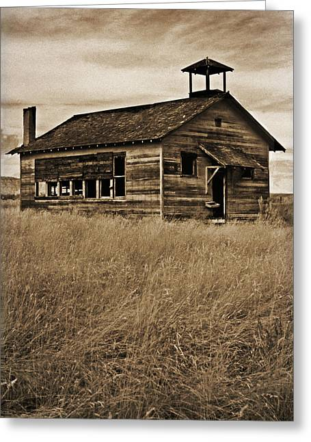 Rural Schools Mixed Media Greeting Cards - Yesteryear Greeting Card by Bob RL Evans