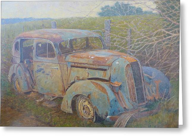 Terry Perham Greeting Cards - Yesteryear Catlins 1980s Greeting Card by Terry Perham