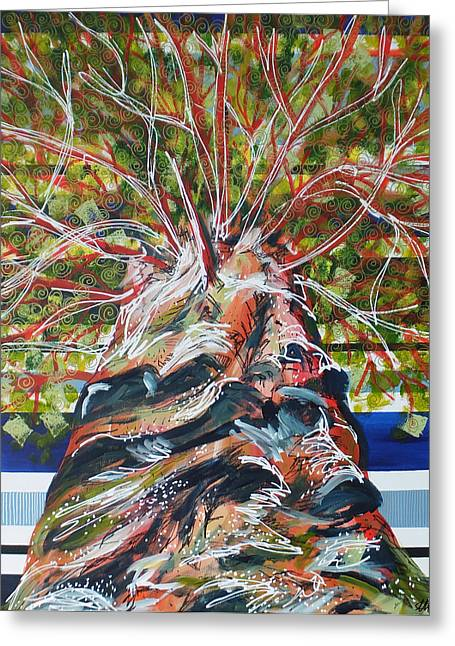 Yggdrasil Greeting Cards - Yggdrasil Greeting Card by Laura Hol Art