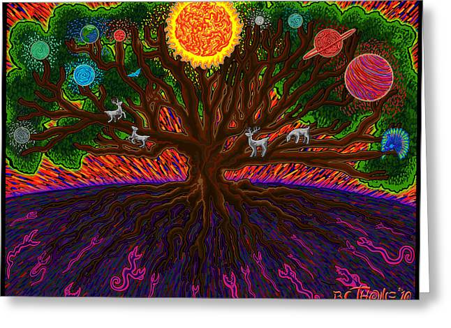 Yggdrasil Greeting Cards - Yggdrasil Greeting Card by Transcend Designs
