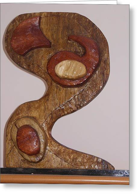 Style Sculptures Greeting Cards - Yin and Yang Front View Greeting Card by Esther Newman-Cohen