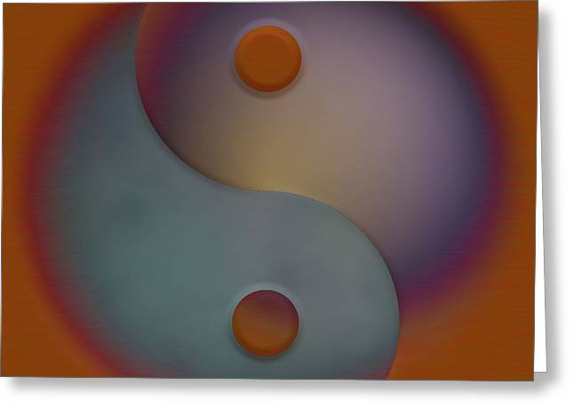 Metaphysics Greeting Cards - Yin and Yang  Greeting Card by Liane Wright