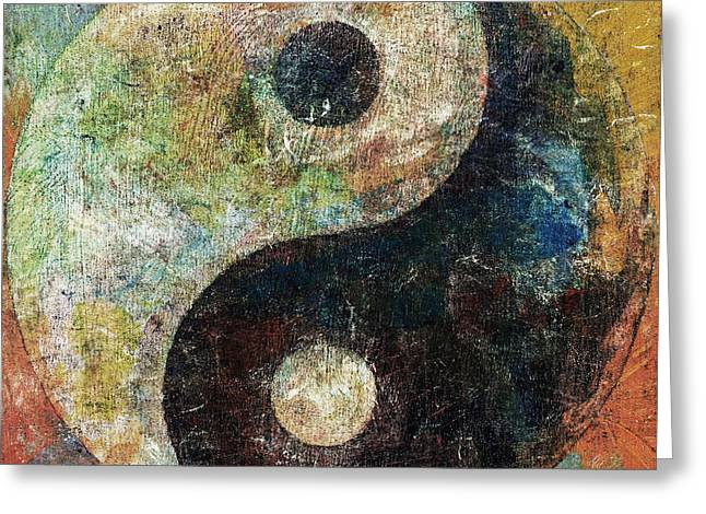 Yin And Yang Greeting Card by Michael Creese
