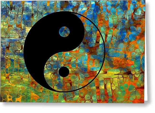 Yin Yang Abstract Greeting Card by Dan Sproul