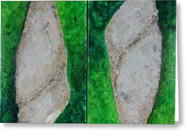 Cocoon Greeting Cards - Yin Yang Cocoon Diptych Greeting Card by Susan Andre