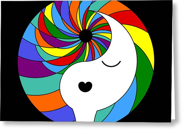 Ying Greeting Cards - Yin Yang Crown 1 Greeting Card by Randall Henrie