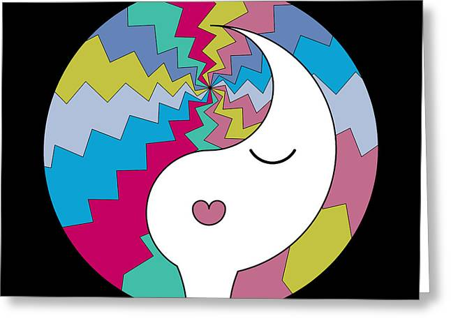 Ying Greeting Cards - Yin Yang Crown 10 Greeting Card by Randall Henrie