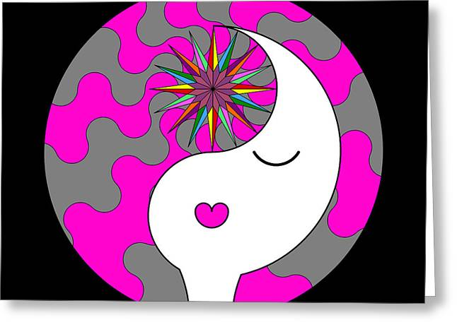 Ying Greeting Cards - Yin Yang Crown 6 Greeting Card by Randall Henrie