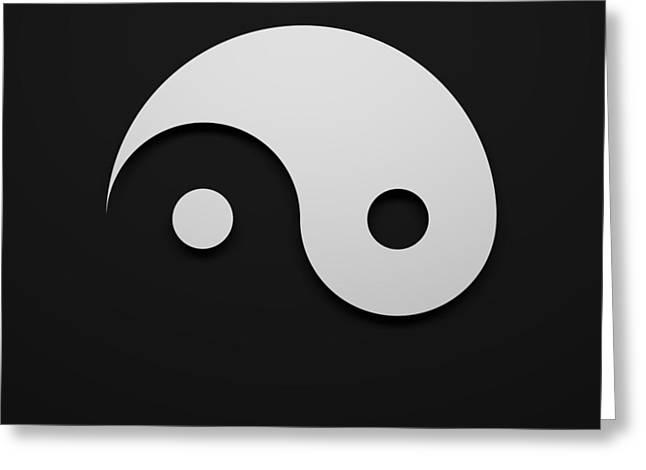 Yin Yang Greeting Card by Edo Kok