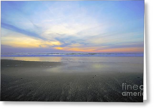 Beach At Night Greeting Cards - Yin Yang Greeting Card by Margaret Hood