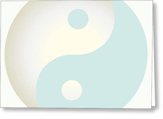Ying Greeting Cards - Ying Yang 102 Greeting Card by Suzanne Hicks