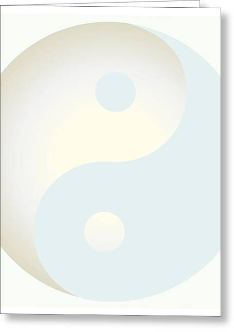 Ying Greeting Cards - Ying Yang 103 Greeting Card by Suzanne Hicks