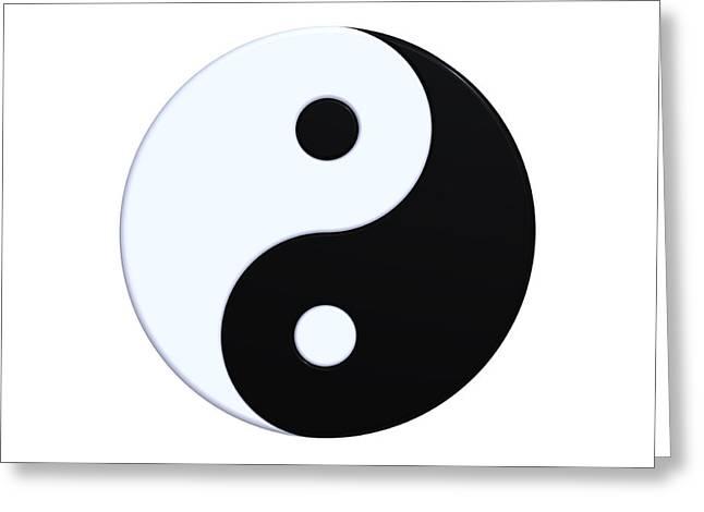 Ying-yang Symbol Greeting Card by Borislav Marinic
