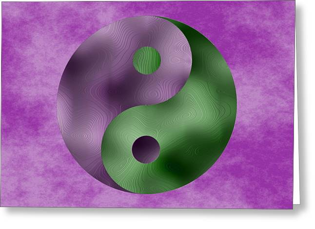 Ying Greeting Cards - YinYang 3 Greeting Card by Ron Hedges