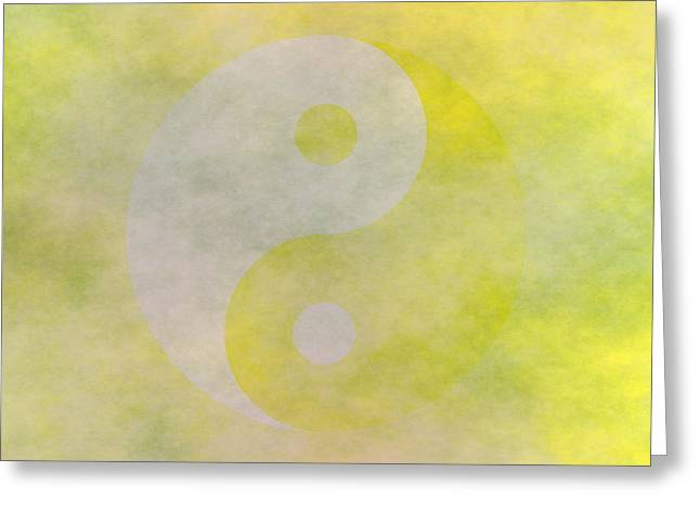 Ying Greeting Cards - YinYang 6 Greeting Card by Ron Hedges