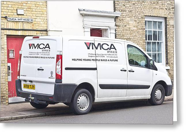 Cause Greeting Cards - YMCA Van Greeting Card by Tom Gowanlock
