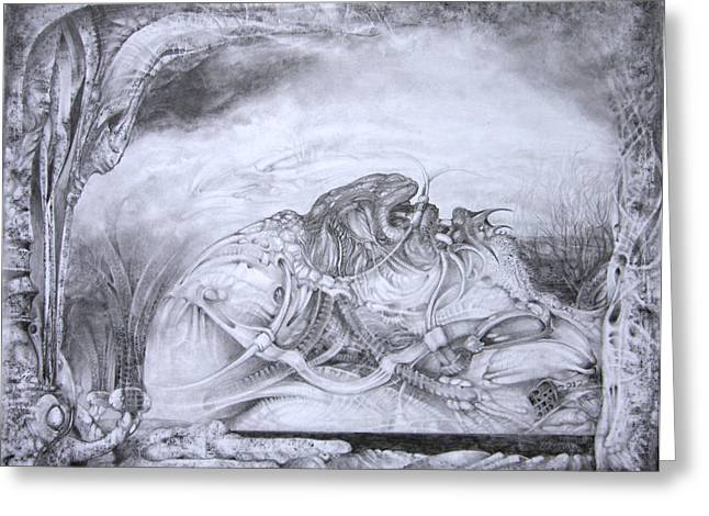 Mystic Art Greeting Cards - Ymir At Rest Greeting Card by Otto Rapp