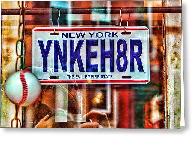 Baseball Art Greeting Cards - YNKEH8R - Boston Greeting Card by Joann Vitali