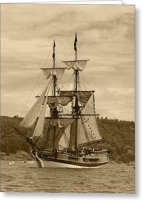 Lady Washington Greeting Cards - Yo Ho Lady Washington Greeting Card by Kym Backland