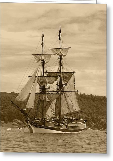 Tall Ship Greeting Cards - Yo Ho Lady Washington Greeting Card by Kym Backland