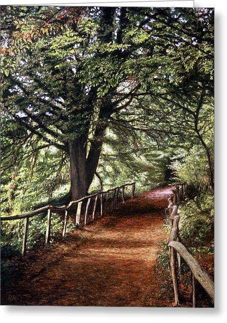 Shade Pastels Greeting Cards - Yockletts Bank Greeting Card by Rosemary Colyer