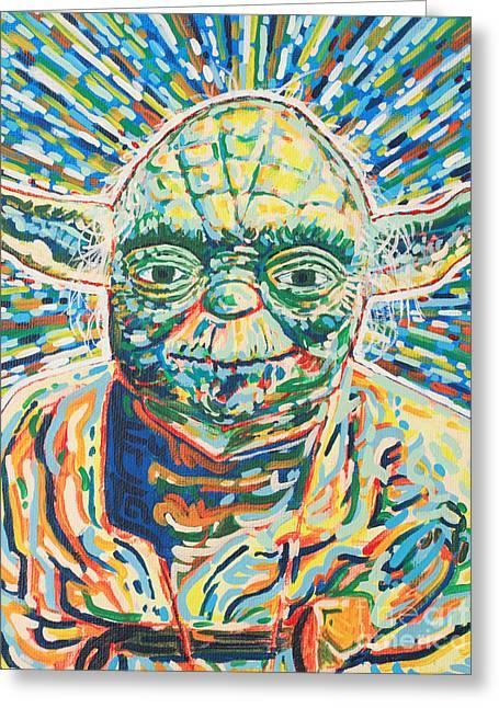 Master Yoda Greeting Cards - Yoda Greeting Card by Jesse Quinn Mayorga