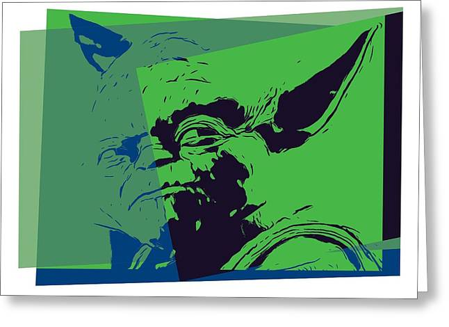 Yoda Pop Art Greeting Card by Dan Sproul