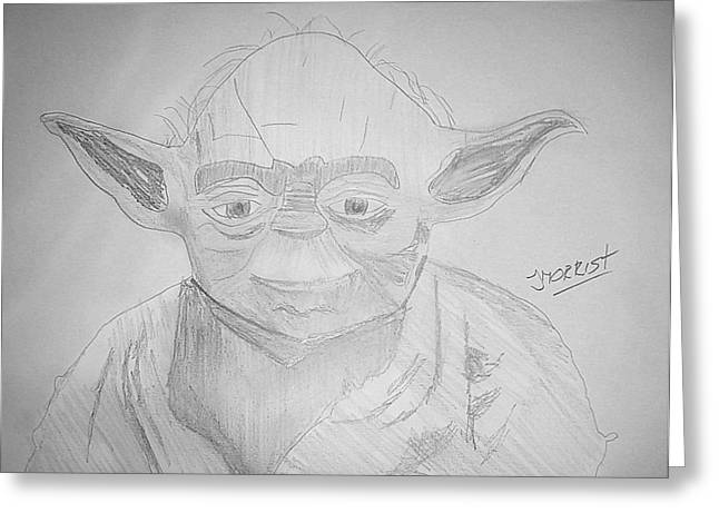 Yoda - Star Wars Greeting Card by John Morris