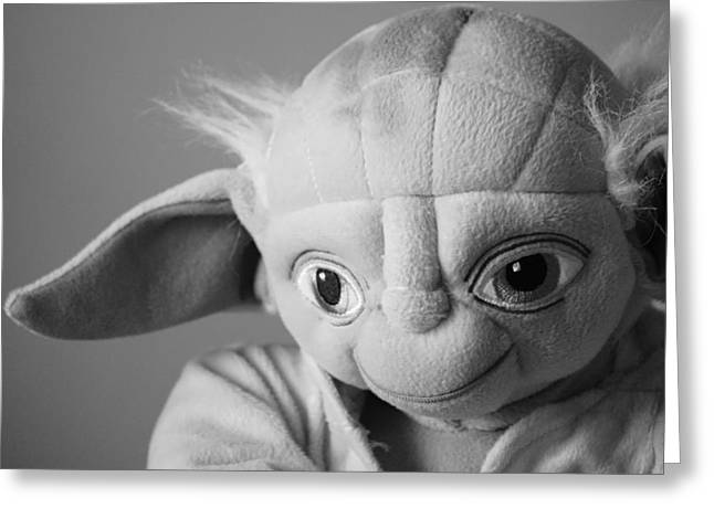 Star Stuff Greeting Cards - Yoda Greeting Card by Susan Bordelon