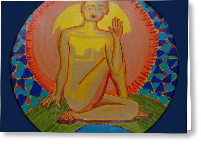 Nude Tapestries - Textiles Greeting Cards - Yoga Seated Twist Greeting Card by Peg Toliver